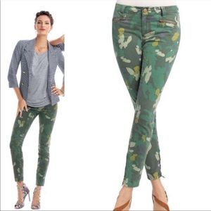 CAbi Clover Camo Skinny Jeggings Jeans Ankle Zip